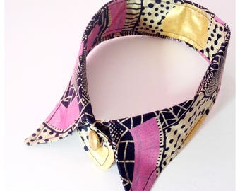 African Fabric Faux col, Ankara Fabric collar, Detachable Collar, African  Faux Collar, Removable Vintage Style Collar