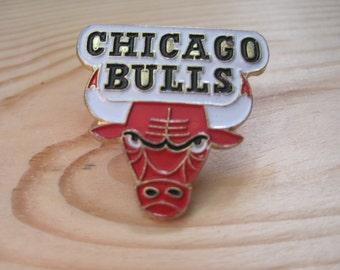 Vintage Chicago Bulls 1989 NBA Lapel/ Hat Pin
