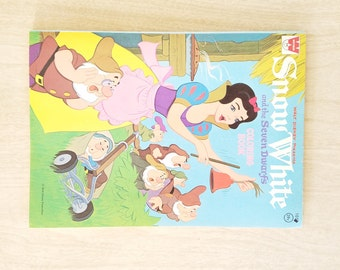 Vintage Disney Snow White and The Seven Dwarfs Coloring Book  1972