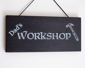 Dad's Workshop Sign - Plaque - Great Gift for Father's Day