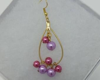 Pearls Dangling Earrings set