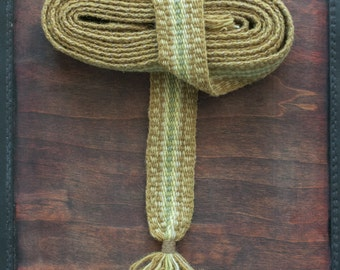 Green trail - hand woven belt for fantasy and reenactment costumes