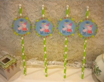 Peppa Pig Cup Cake / Dessert Toppers (12)