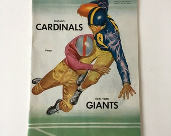 Vintage Chicago Cardinals Vs. New York Giants Football Program- November 1, 1953