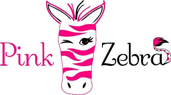 SALE Car Decal Pink Zebra Independent Consultant Window 3 Color Custom Personalized