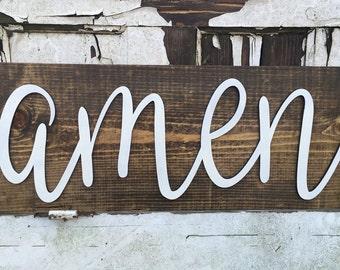 Amen wall sign, amen, amen decor, religious decor, wall decor, wall art