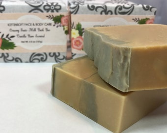All Natural, creamy, moisturizing goat's milk soap