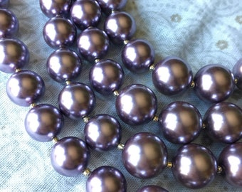 Lavender Pearl Necklace