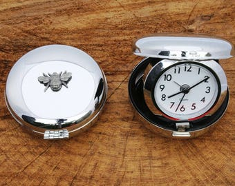 Bumble Bee Design Travel Quartz Movement Alarm Clock Wildlife Gift