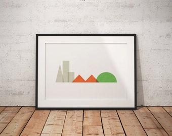 Minimalist San Francisco Art Print