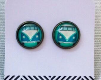 Hippie VW Van Stud Earrings