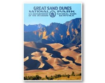 Great Sand Dunes National Park Travel Poster