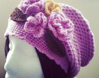 Crochet Pattern: Slouchy Hat (0015) - Permission to Sell Finished Products