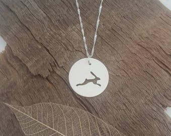 Sterling silver Hare pendant