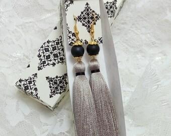 Tassel Earrings,  Long Tassel Earrings, Luxury Tassel Earring, Silky Tassel Jewelry