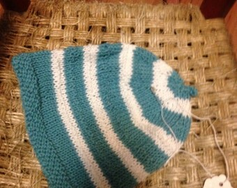 Infant knitted cotton hat