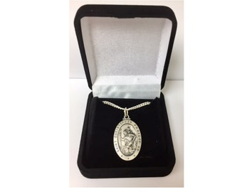 St. Christopher Medal Sterling Silver Patron Saint Personalized Engraved Free