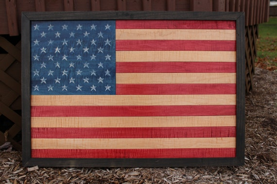 american flag wall hanging wall decor flag day wood art. Black Bedroom Furniture Sets. Home Design Ideas