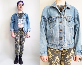 90s Clothing Levis Denim Jacket Vintage Jean Jacket 90s Vintage Jacket Levis Jean Jacket 90s Grunge Clothing Grunge Jean Jacket Size Medium