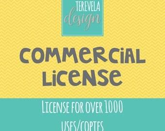 Commercial License over 1000 for Terevela design
