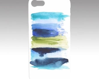 Original Abstract Watercolor Art Print - Stripe 1A Phone/Tech case