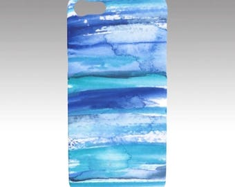 Original Abstract Watercolor Art Print - Stripe 2 Phone/Tech case