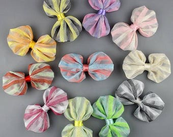 Boutique Bow, Hair Bow for Girls, Striped Bow WH100002