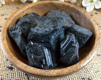 Raw Crystal Black Tourmaline Raw Stone Healing Crystals and Stones Raw Black Tourmaline Cleansing Stone Black Stone Meditation Stone Natural