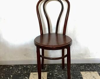 Bistrot Chair wood turned dark brown