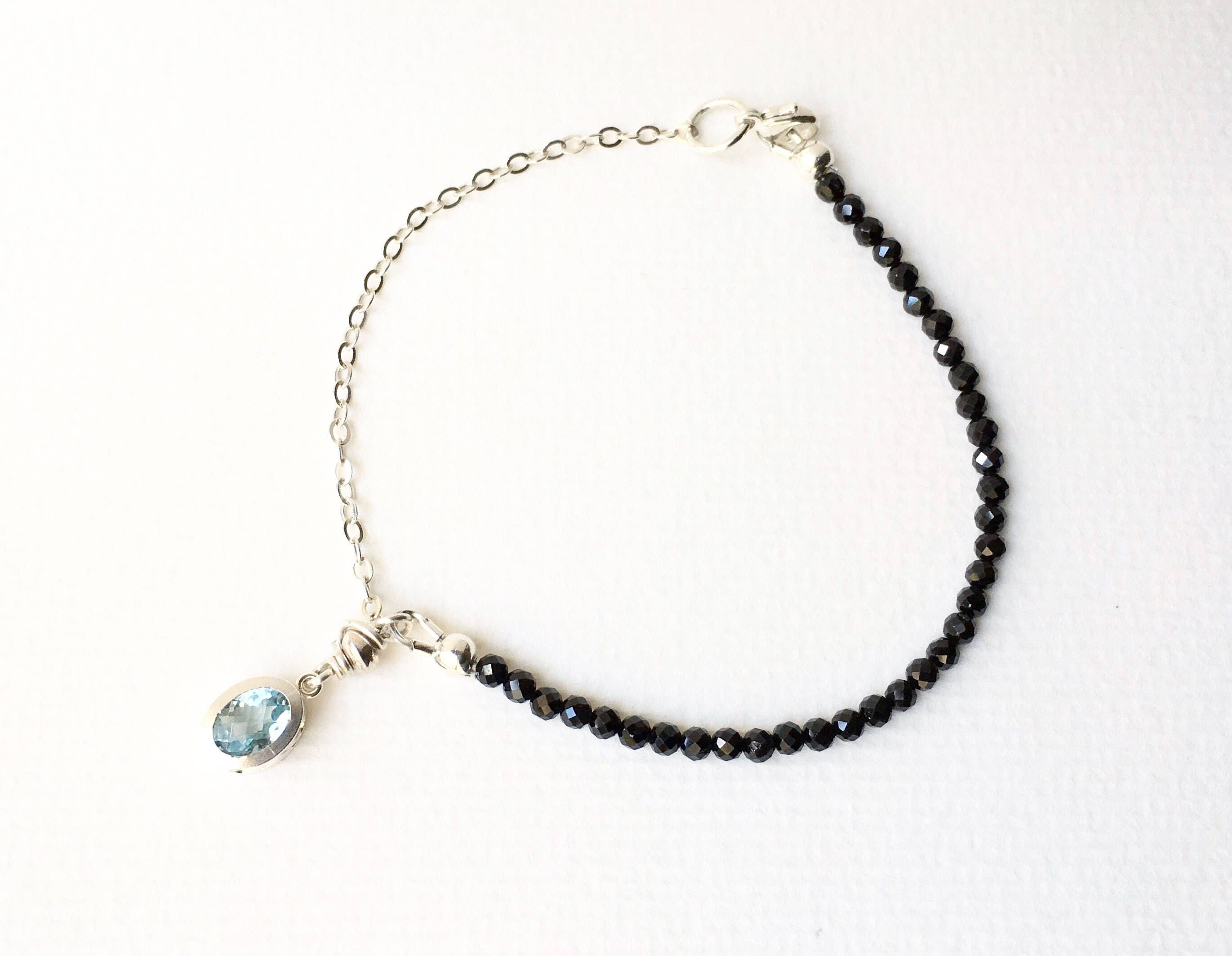 product anklet aquamarine sterling bracelet silver open and chain