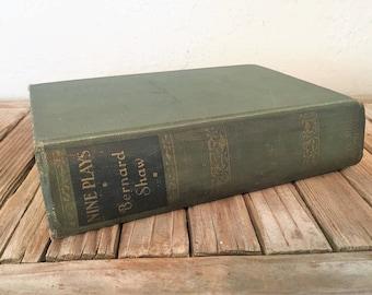 Vintage Book Titled Nine Plays by Bernard Shaw