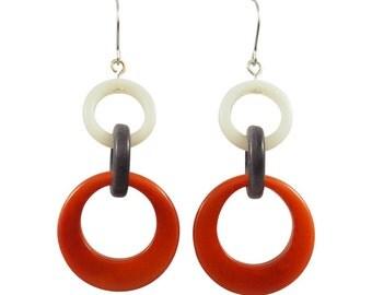 Unika Dangle Tagua Earrings Eco Friendly Dangle Earrings Sustainable