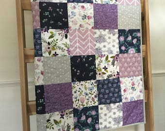 Lavender baby quilt | Etsy : lavender quilts - Adamdwight.com