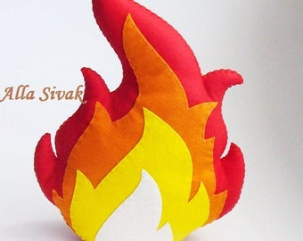 Felt Campfire, Felt Fire, Toy Fire, Kids camp fire, Play Campfire, Pretend Fire, Fake Fire, Toy Campfire, Faux fire, Felt campfire flame