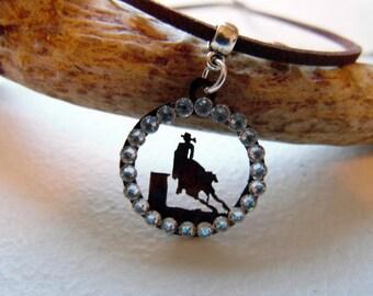 Barrel Racing Necklace, Barrel Horse Jewelry, Cowgirl Necklace, Country Girl Rodeo, Rodeo Horse Jewelry, Rodeo Necklace, Barrel Racing