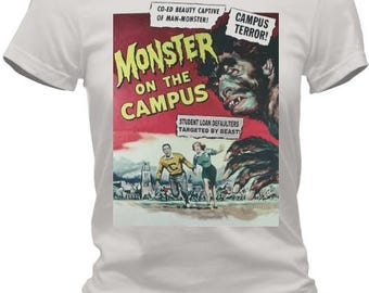 College Monster Mania Pulp Fiction T-Shirt