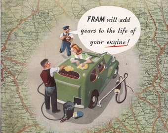 Husband Gift July 1947 Autocar Magazine Retirement Gift for Man Cave Anniversary Gift for Him Birthday Idea Car Magazines FREE SHIP