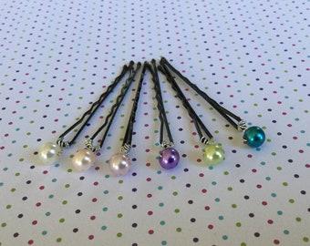 Bridal Hair Pins. Single Pearl Hair Pins. Bridal Hair Accessories. SPBHP1