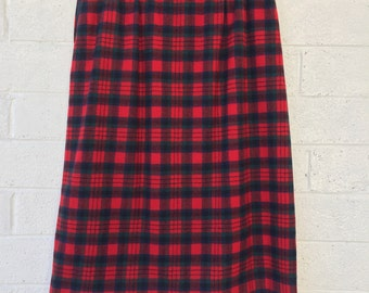 Vintage Classic High Waist PENDLETON Plaid Skirt with Pockets size 12