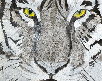 Eyes of The White Tiger Mosaic