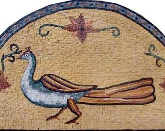Peacock Stone Art Mosaic