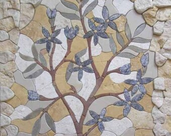 Garden Tree Stone Mosaic