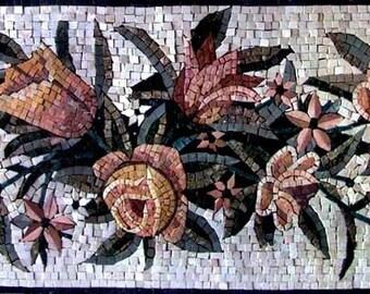 Oriental Flower Arrangement Mosaic