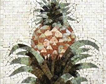 Mosaic Kitchen Backsplash- Pineapple