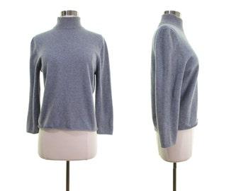 Oscar De La Renta sweater cashmere sweater gray sweater gray cashmere sweater cropped sweater turtleneck sweater normcore sweater italy