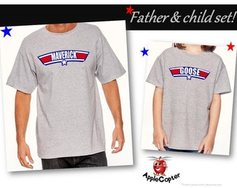 Father's Day Gift, Top Dad Shirt, Unique Top Gun Gift, Matching Father & Son Shirts, Maverick, New Dad Gift, Mens Custom Shirt, AppleCopter