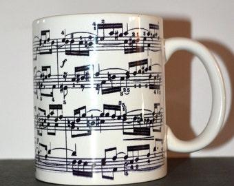 Bach Sheet Music Mug