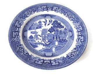 Blue and White Willow Royal Venton Ware Plate