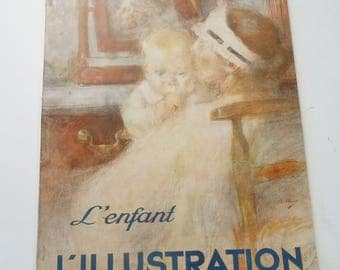 Vintage Baby / L'Illustration Magazine / L'enfant / 1937 Publication in French / Interesting children's research and design