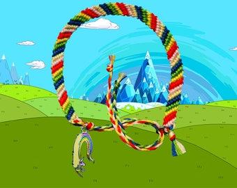 Adventure Time friendship bracelet with Lady Rainicorn charm Free UK Postage!